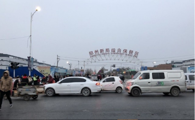 富士康鄭州廠設於當地保稅區內。翻攝中國網路