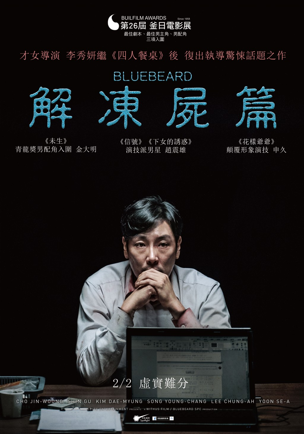 "Taiwan film distributor, Spotlight, unveils Korean psychological thriller ""Bluebeard"""