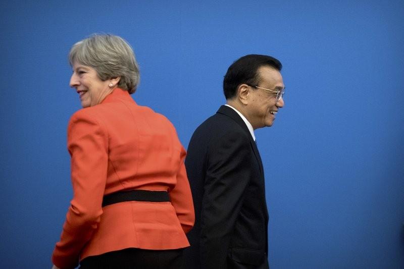 英國首相梅伊(Theresa May)展開為期3天的中國國是訪問。 (美聯社)