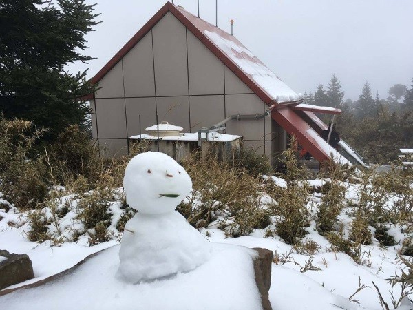 Snowman in Shei-Pa National Park.