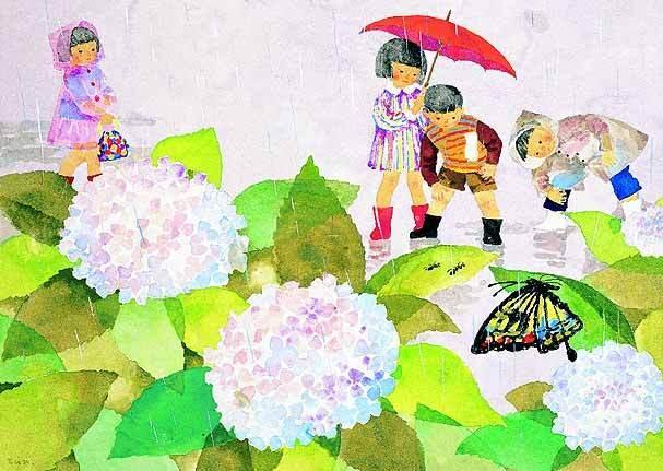 Pinturas originales de Chihiro Iwasaki en exhibición en Taipei
