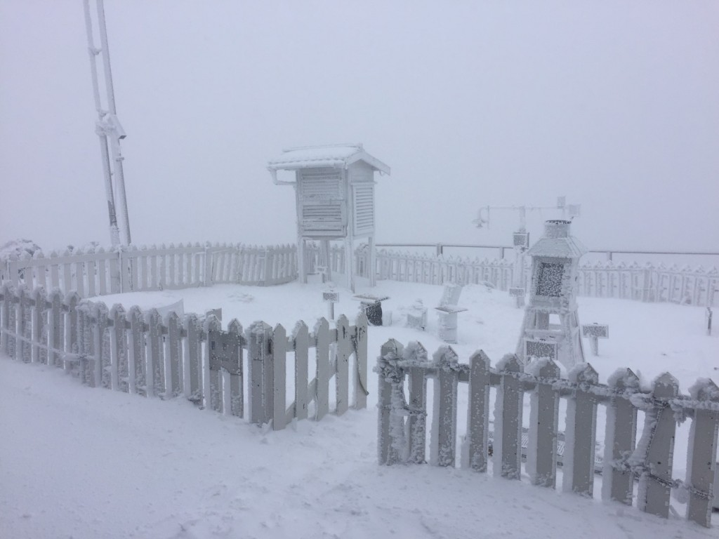 Photo of the day: 8.6 cm of snow seen on Yushan