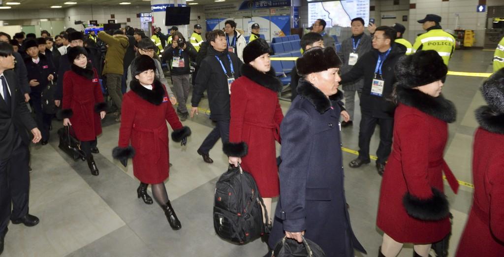 平昌冬奧北韓代表團(圖片來源:美聯社)