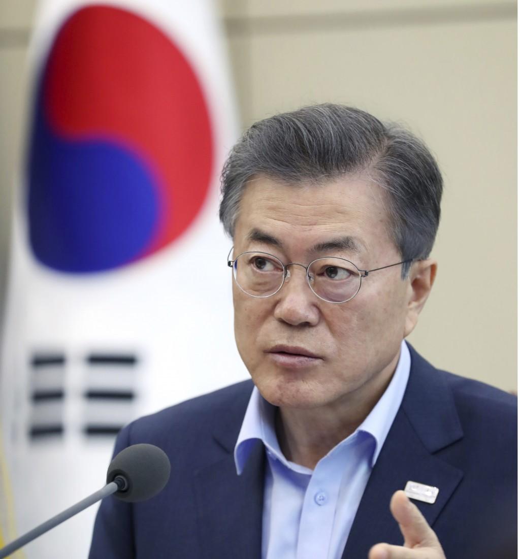 南韓總統文在寅強調,當創造出條件後,將儘快訪問北韓。(圖片來源:美聯社)