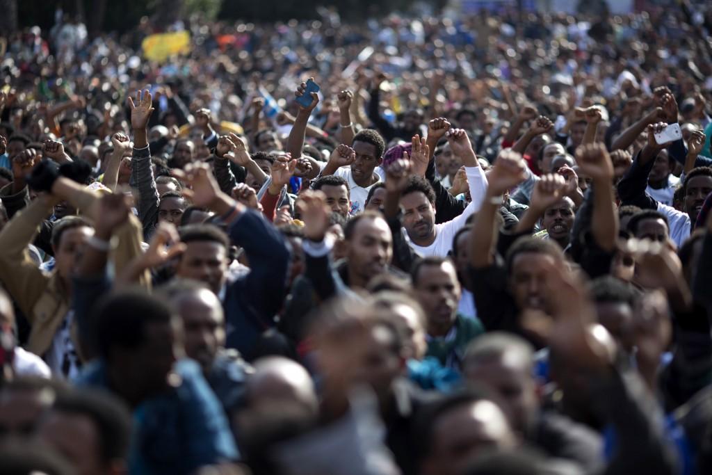 以色列抗議群衆(圖片來源:美聯社)