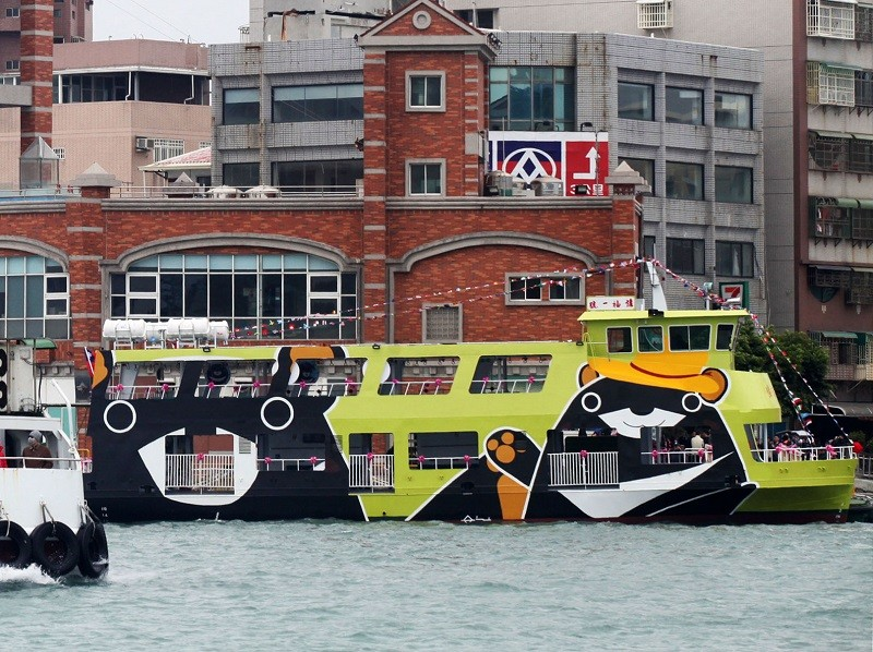 The brand-new electric ferry entered service in Taiwan's southwestern port city of Kaohsiung