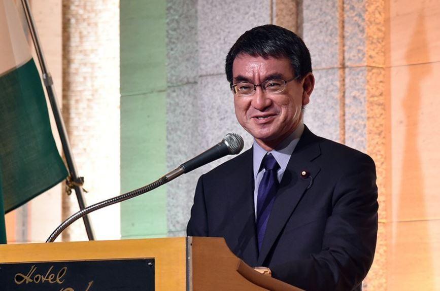 日本外務大臣河野太郎(圖片來源:截取自河野太郎推特)