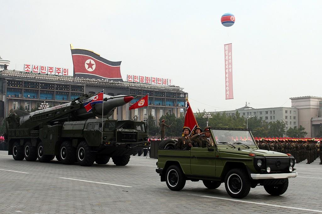 北韓於2010年舉行閱兵典禮的畫面。 (翻攝 Flickr)