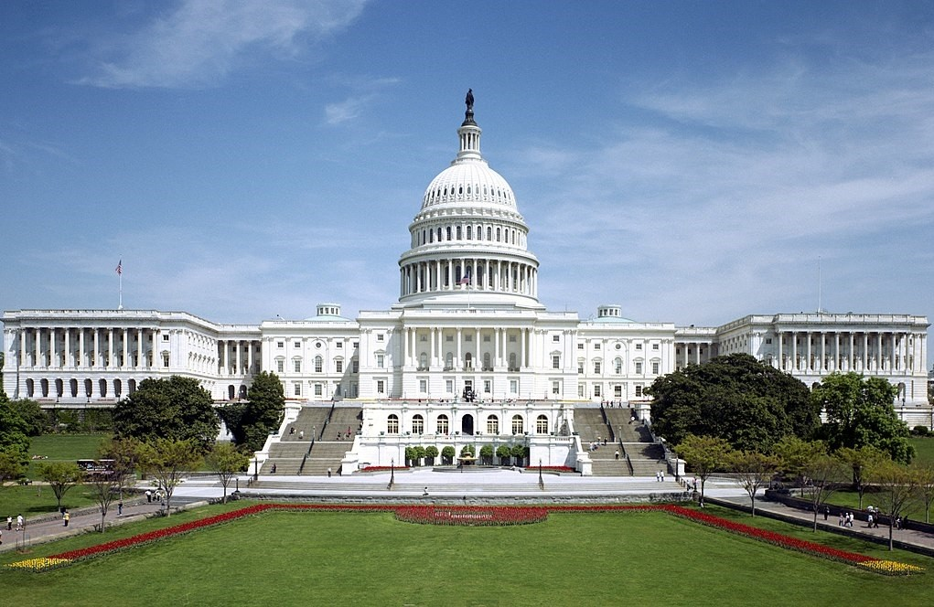 The United States Capitol, with the Senate chamber on the left.