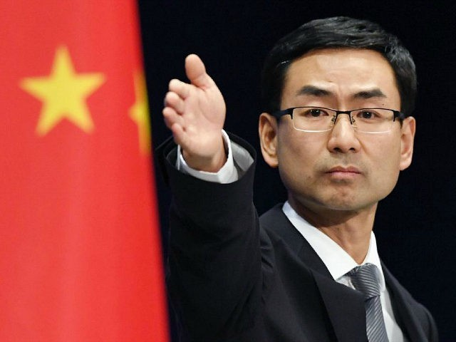 File Photo of Chinese Foreign Ministry Spokesperson Geng Shuang