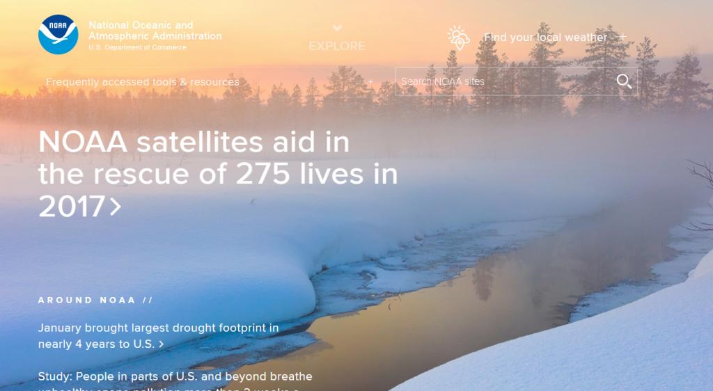 9日川普剛簽署一項由國會通過的撥款法案,將挹注經費給這個掌管氣象預報、海洋科學與氣候研究的聯邦機構。(圖片截圖自NOAA官網)