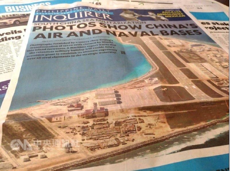 菲律賓媒體2月5日曾報導,中國在南海7處造島工程接近完工。中央社