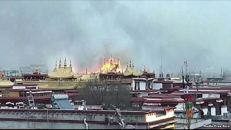 Huge fire breaks out near holiest site in Tibetan Buddhism, Jokhang Temple