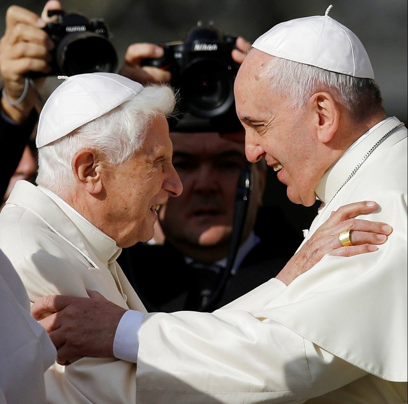 Pope Francis (right)