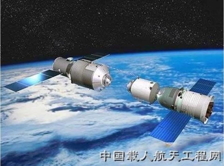 天宮一號空間實驗室示意圖 (翻攝中國網路)
