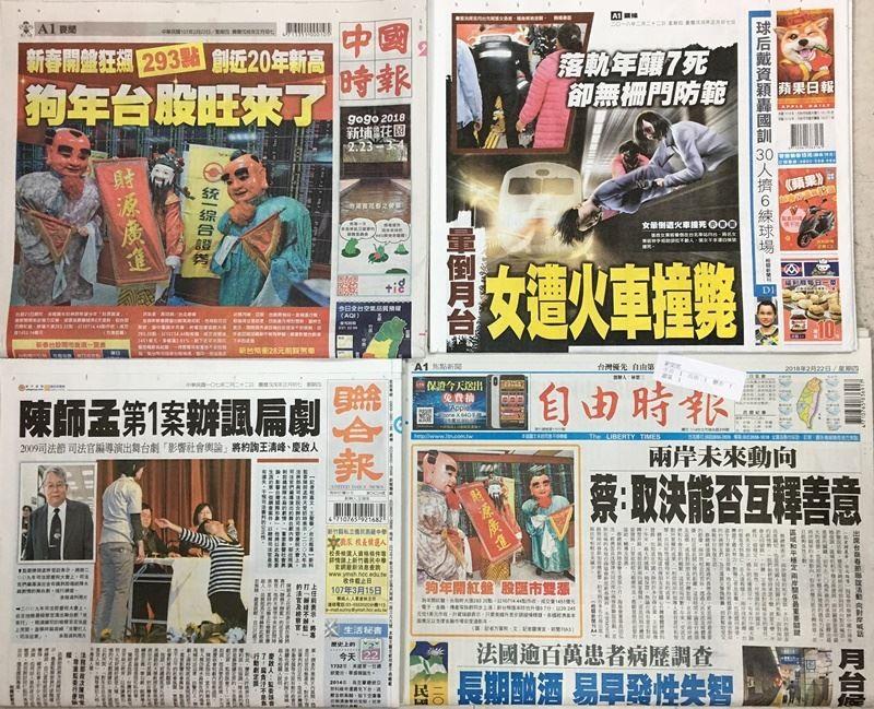 Taiwan headline news