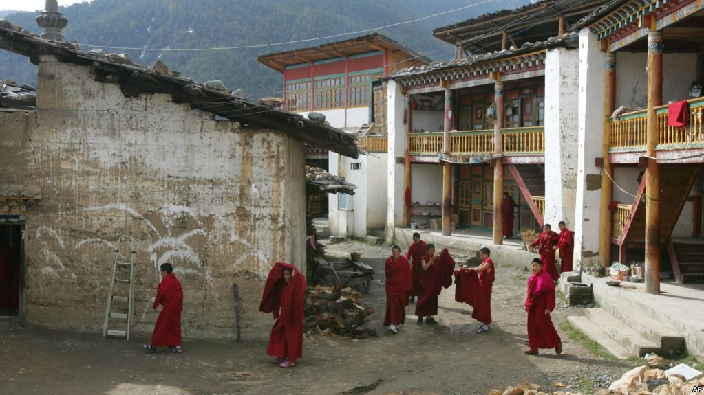 Tibetan nuns in the Chinese province of Yunnan.
