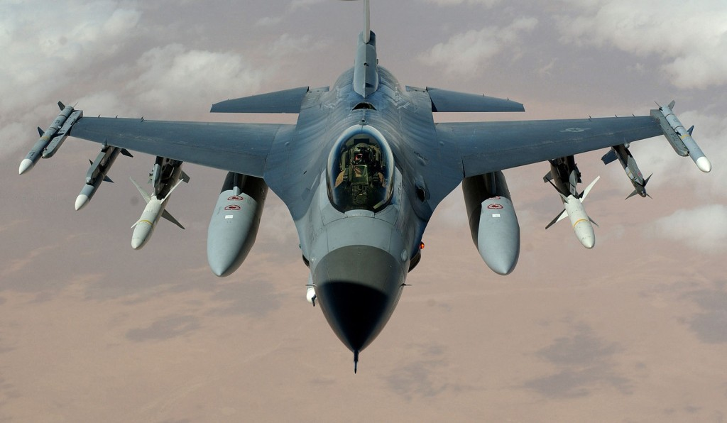 The F-16 aircraft is a coveted fighter jet.