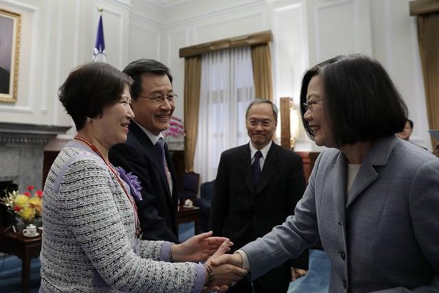 總統蔡英文2月23日接見北美洲台灣商會聯合總會(照片來源:總統府提供)