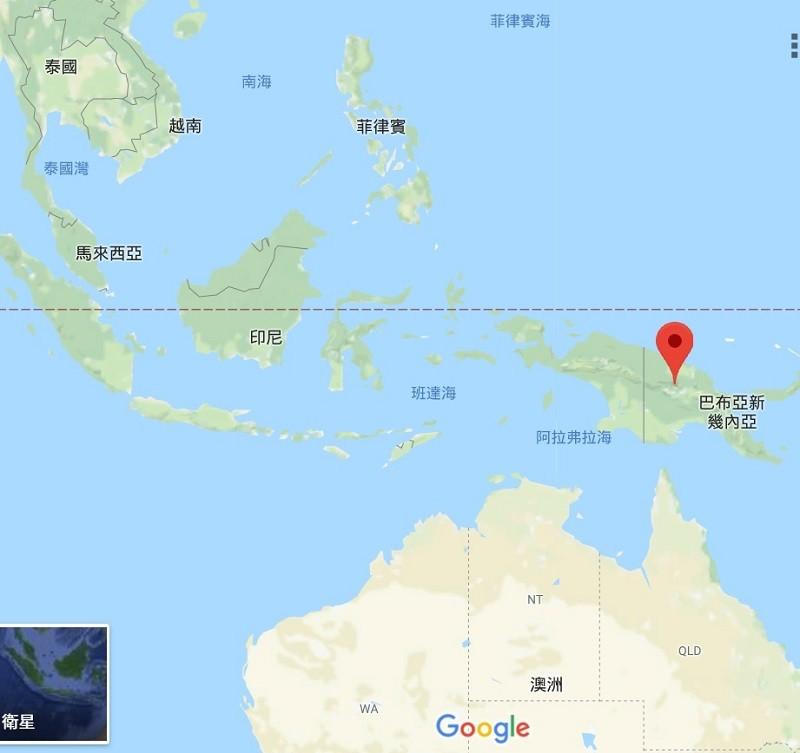 這次地震的震央位於波爾蓋拉(Porgera)。翻攝Google地圖