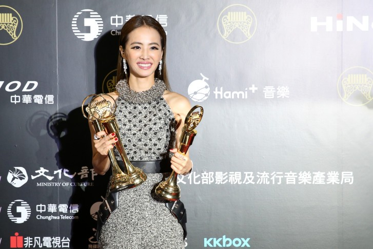 Jolin Tsai at an awards event in 2015.