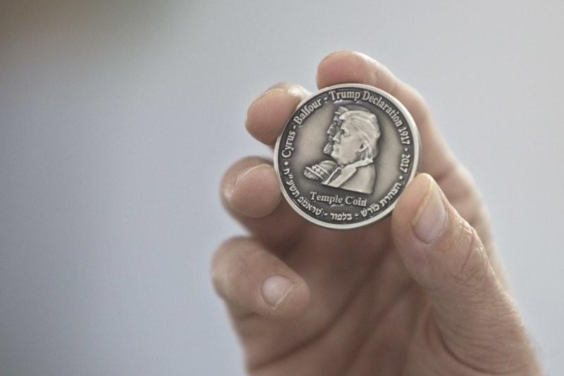 以色列的米克達許教育中心鑄印了1000枚此款硬幣。 (美聯社)