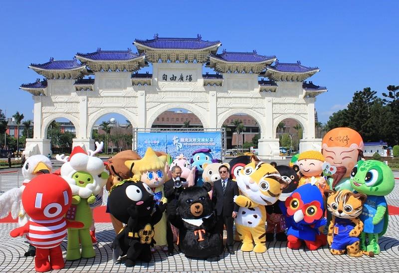 東京晴空塔吉祥物與全台數個縣市以及國家風景區的吉祥物於3月1日相約在台北自由廣場前亮相,共同促進台日觀光