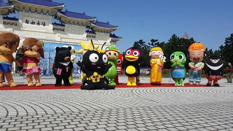 東京晴空塔妹妹與台灣各地吉祥物大集合 齊力進行雙邊觀光交流