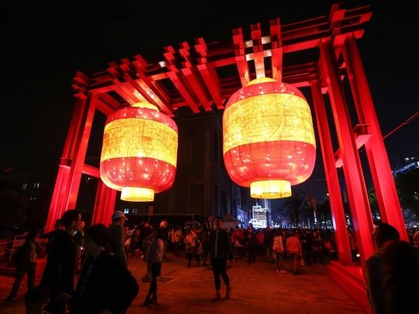 Taipei Lantern Festival lanterns.