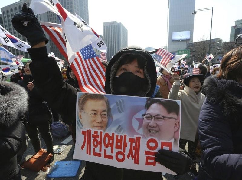 昨(1)日,南韓民眾歡慶自1919年脫離日本殖民的獨立紀念日。 (美聯社)