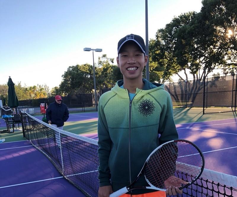 林南勳--圓山聯誼會青少年菁英網球邀請賽冠軍(照片Gary Lin提供)