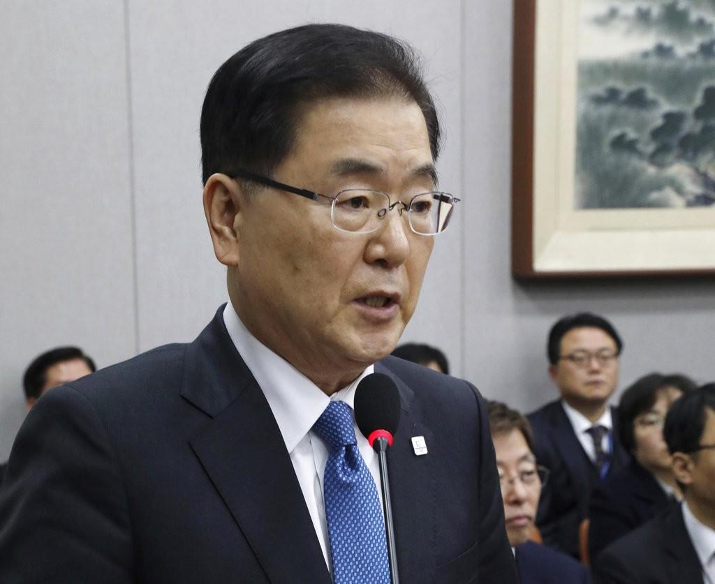 南韓國家安保室長鄭義溶(圖片來源:美聯社)