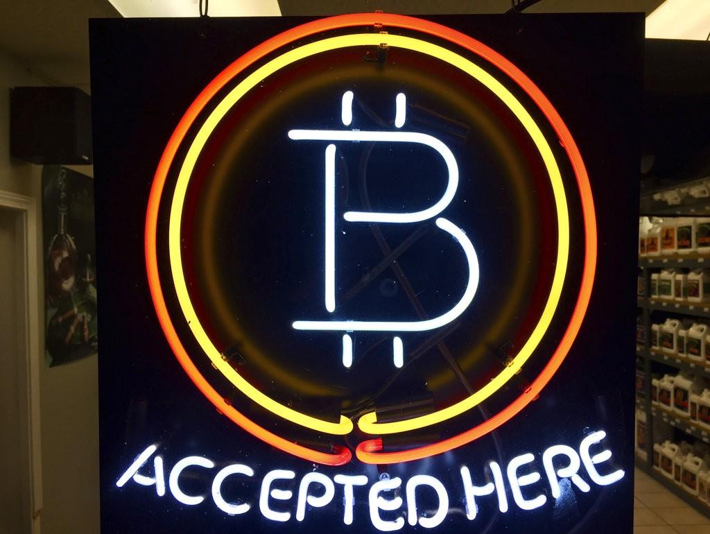 一家接受比特幣支付的商店(圖片來源:美聯社)