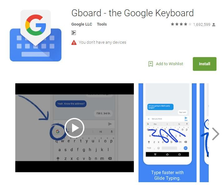 Gboard(圖片來源:Google商店)