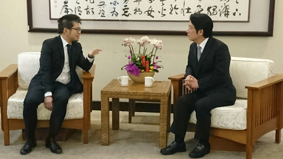 YouTube co-founder Steve Chen and Premier William Lai (Photo courtesy of the National Development Council)