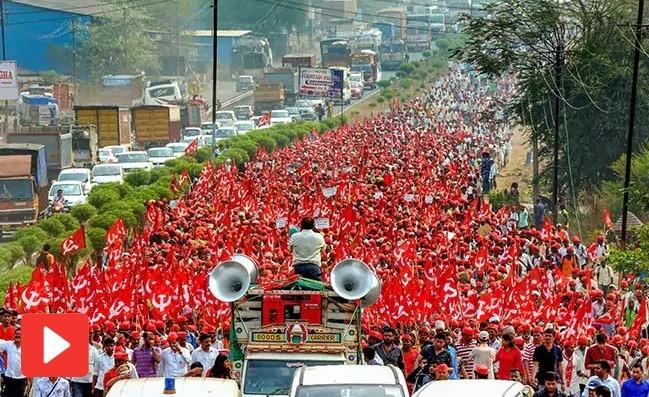 印度4萬農民齊上街,抗議邦政府穀物收購政策與水資源問題(圖片來源:翻攝自印度電視台NDTV)