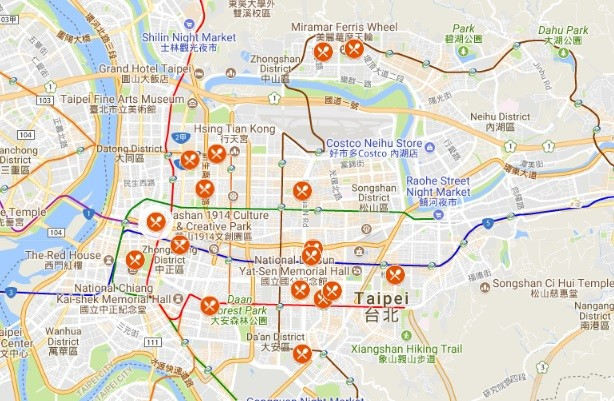 English Google Map of Michelin Guide winners ... | Taiwan News