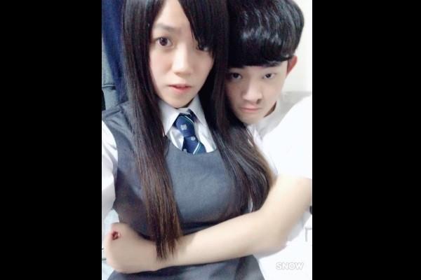 Pan (left), Chen (right). (Image from Snow social media app)
