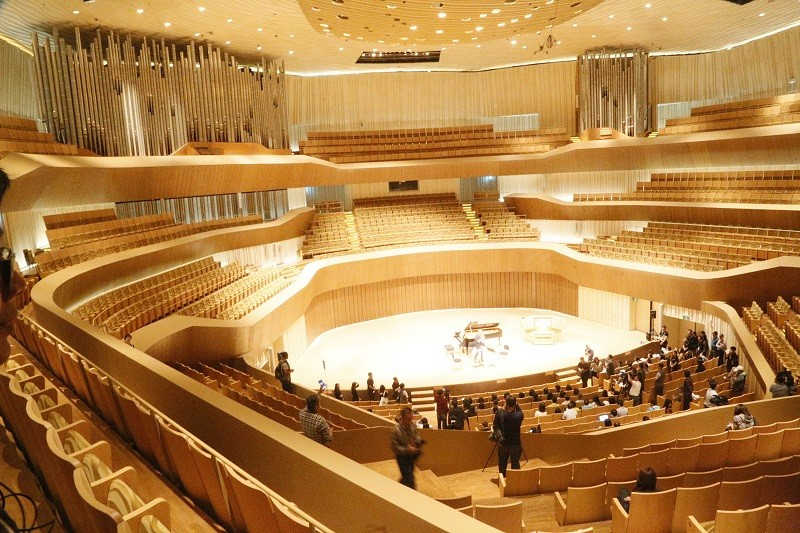 the Concert Hall at the Wei-Wu-Ying Center for the Arts in Kaohisung City
