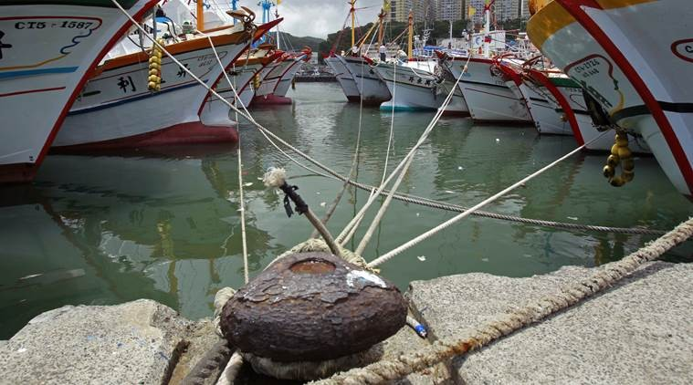 File Photo: Taiwanese fishing boats in harbor