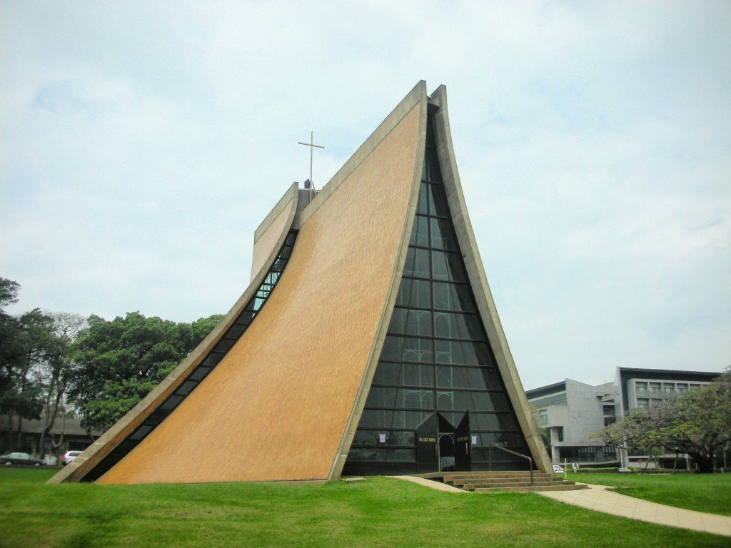 The photo shows Tunghai University in Taichung City, Taiwan. (Credit: