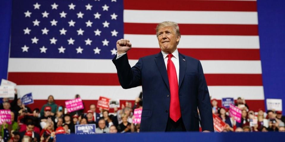 File Photo: Donald Trump in Pennsylvania, March 10, 2018