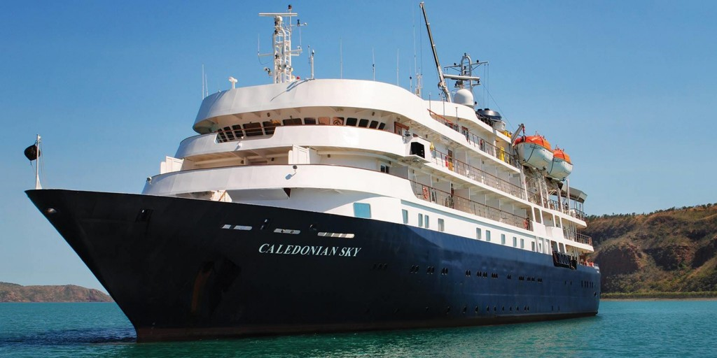 The MS Caledonian Sky, set to reach Anping, Tainan on March 21 (Image from APT Touring website)