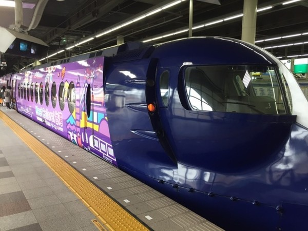 Specially painted Nankai Ltd. Express  Rapi:t train.