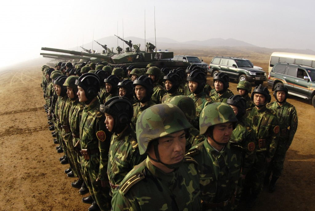 China People's Liberation Army soldiers.