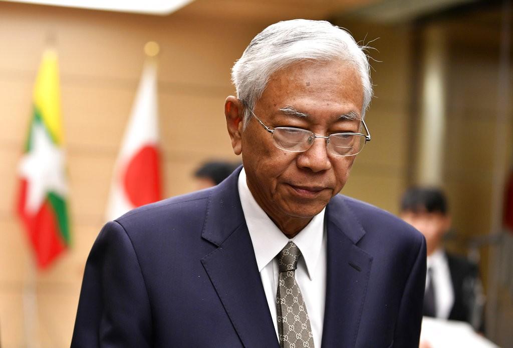 緬甸總統吳碇喬在今日辭職(圖片來源:美聯社)