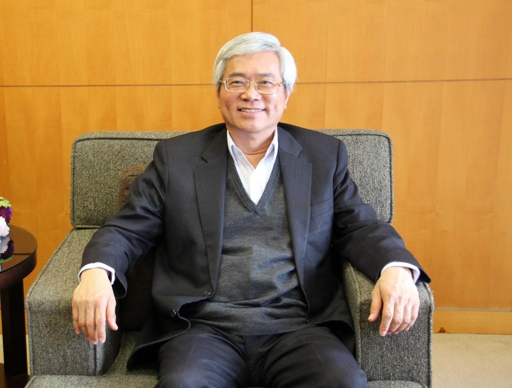 台灣智慧城市產業聯盟會長、神通資訊科技董事長蘇亮(台灣英文新聞,記者李文潔2018年3月22日攝)