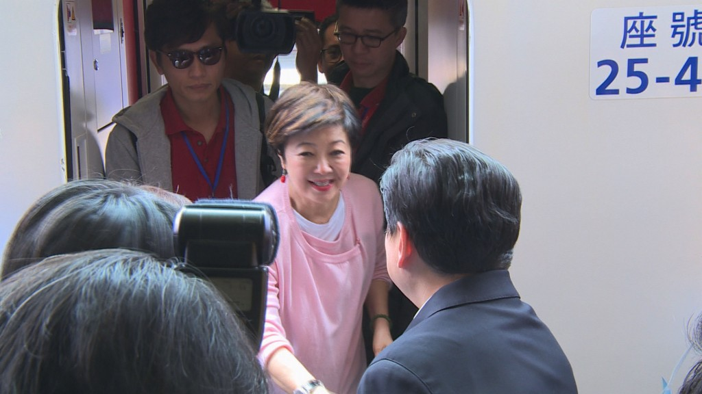 TSMC Foundation chairwoman Sophie Chang arrives in Hualien Saturday.