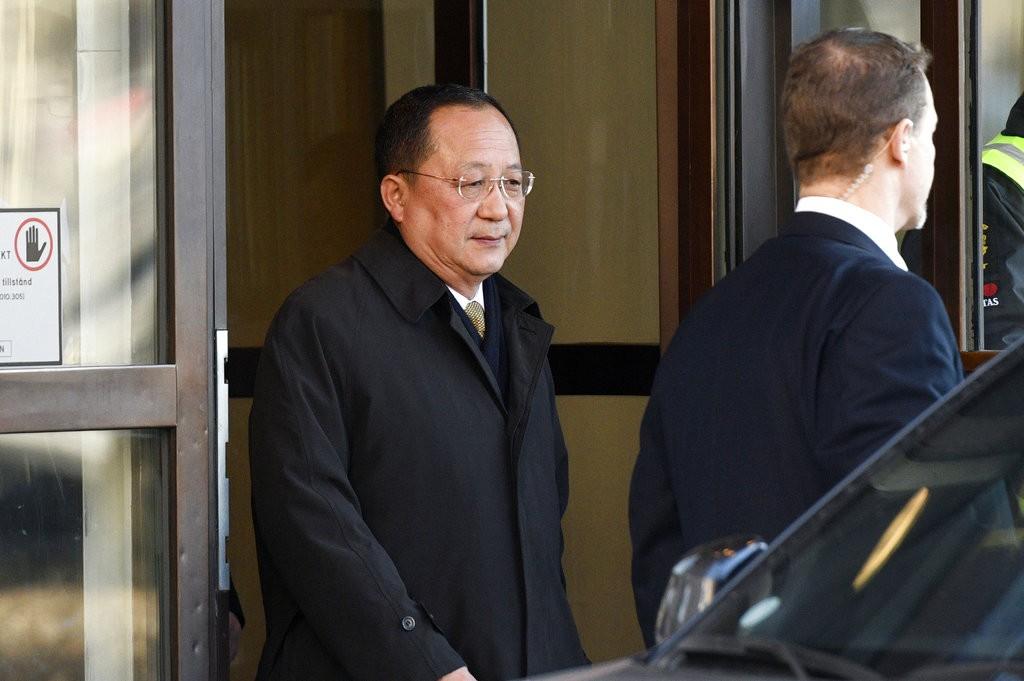 李榮浩在3月16日訪問瑞典時的資料照(圖片來源:美聯社)