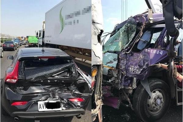 Volvo (left), truck (right). (Breaking News Commune images)